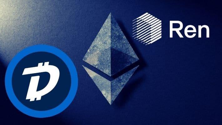 DigiBytes native Münze DGB in renDGB einwickeln
